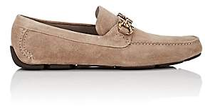 Salvatore Ferragamo Men's Parigi Suede Drivers - Sand