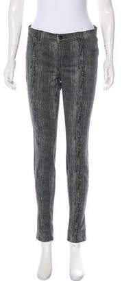 J Brand Mid-Rise Printed Jeans