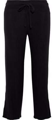 LnA Brushed Aria Cropped Cutout Stretch-Tencel Straight-Leg Pants