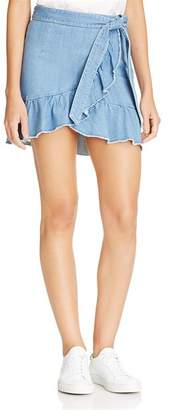 Paige Nivelle Wrap Mini Skirt in Mantra