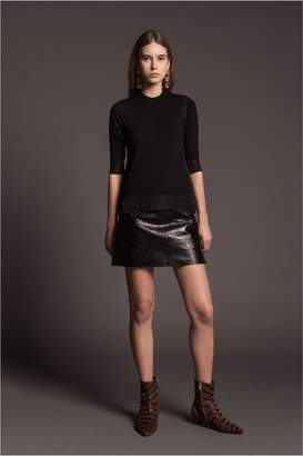 Sonia Rykiel Short-Sleeved Jumper With Sheer Details
