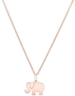 Sydney Evan 14K Tiny Elephant Necklace
