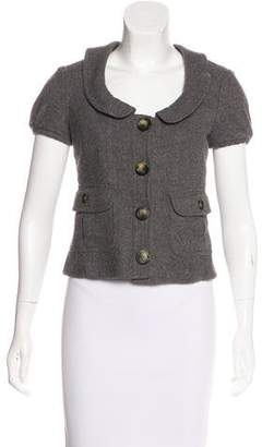 Burberry Wool-Blend Short Sleeve Jacket