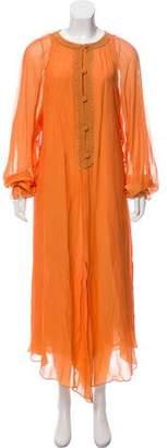 Oscar de la Renta Sheer Maxi Dress