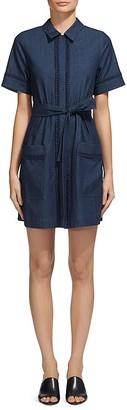 Whistles Sylvia Lace Trim Shirt Dress $279 thestylecure.com