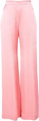 Brandon Maxwell High-Waisted Silk Trousers
