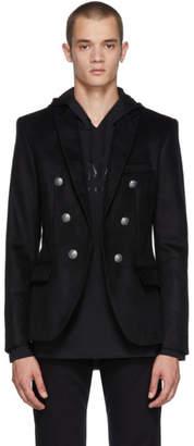 Balmain Black Six-Button Blazer