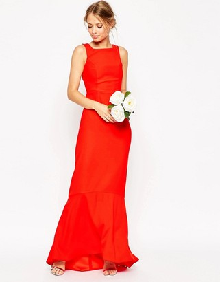 ASOS WEDDING Maxi Dress With Fishtail Hem $129 thestylecure.com