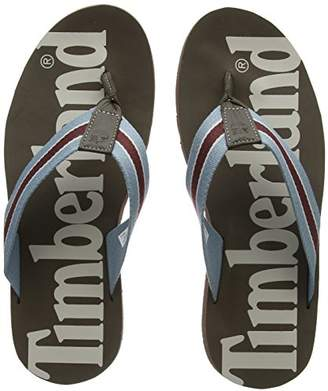 Timberland Men''s Wild Dunes Fabic and Leather Flip Flops