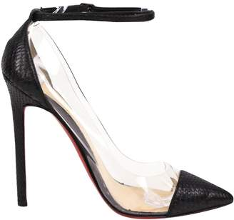 Christian Louboutin So Kate Black Water snake Heels