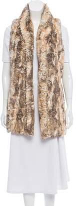 Alice + Olivia Faux Fur Open Front Vest