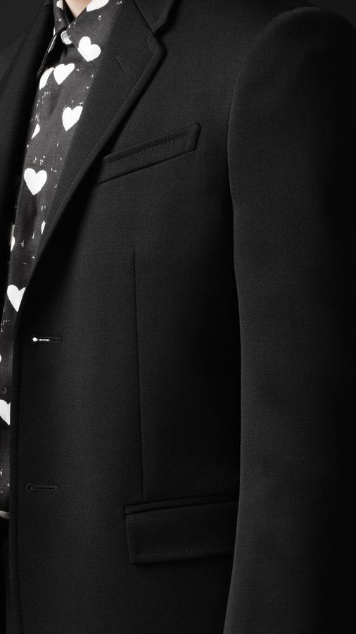 Burberry Skinny Fit Short Cavalry Twill Jacket