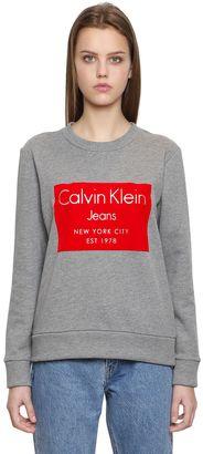 Hansi Flocked Print Cotton Sweatshirt $133 thestylecure.com