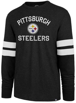 '47 Men's Pittsburgh Steelers Scramble Long Sleeve Club T-Shirt