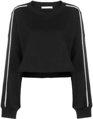 Christopher Kane crystal trim crop sweatshirt