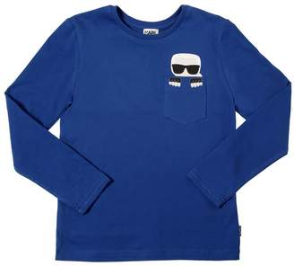 Karl Lagerfeld Pocket Cotton Jersey T-Shirt