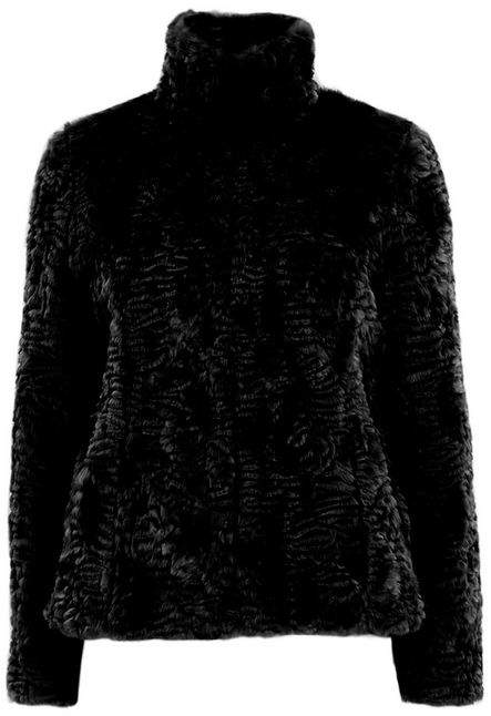 Petite Black Faux Fur Coat
