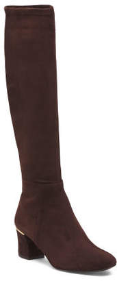 Made In Spain Suede Stretch Boots