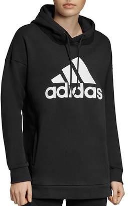 adidas Badge Of Sport Fleece Hooded Sweatshirt