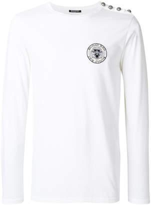 Balmain long-sleeved logo top