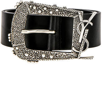 275919ddaea65 Saint Laurent Black Men s Belts - ShopStyle