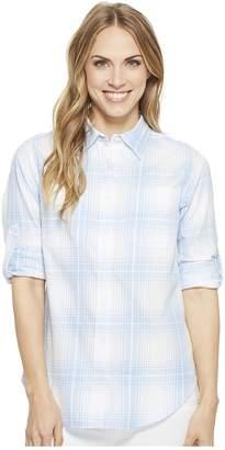 Lauren Ralph Lauren Plaid Rolled-Cuff Cotton Shirt Women's T Shirt