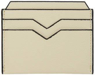 Valextra Off-White Calfskin Card Holder