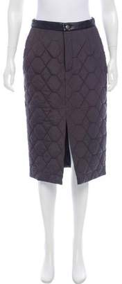 Timo Weiland Leather-Trimmed Quilted Skirt