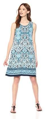 Max Studio Women's Sleeveles Trapeze Jersey Dress