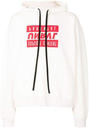 Unravel Project slogan print oversized hoodie