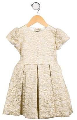 Oscar de la Renta Girls' Brocade A-Line Dress