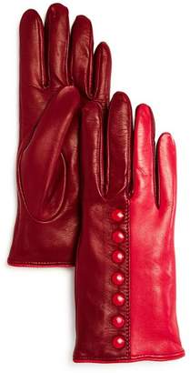Bloomingdale's Color-Block Leather Gloves - 100% Exclusive