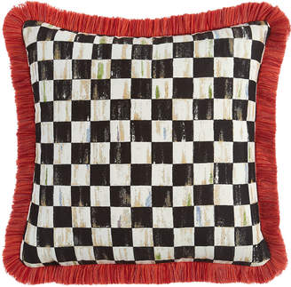 Mackenzie Childs Courtly Check Spindle Outdoor Cushion