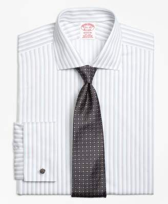 Brooks Brothers Madison Classic-Fit Dress Shirt, Non-Iron French Cuff Sidewheeler Stripe