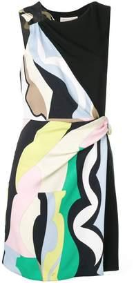 4538ae4b29 Emilio Pucci Vallauris Print Draped Dress
