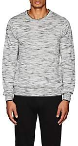 Barneys New York MEN'S SPACE-DYED WOOL SWEATER-DARK GRAY SIZE S
