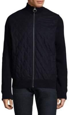 Barbour Quilt-Panel Wool Zip Jacket