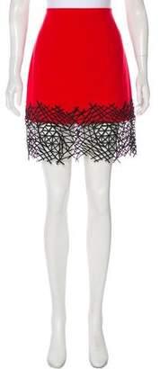 Christopher Kane Embroidered Wool Skirt