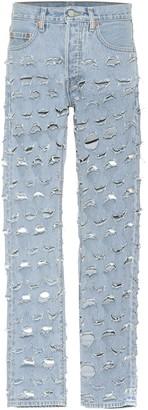 Vetements X Levi's distressed jeans
