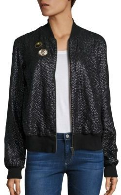 Love Sam French Cup Sequin Bomber Jacket $395 thestylecure.com
