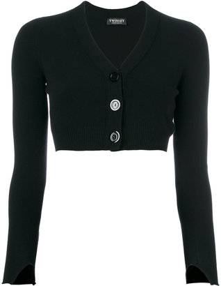 Twin-Set cropped long-sleeved cardigan $142.18 thestylecure.com