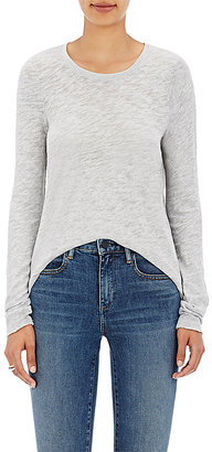 ATM Anthony Thomas Melillo Women's Distressed Cotton-Blend Long-Sleeve T-Shirt $115 thestylecure.com