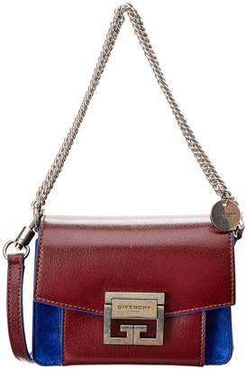 Givenchy Mini Gv3 Leather & Suede Crossbody