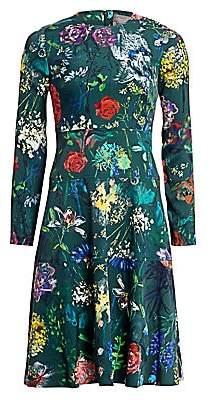 Lela Rose Women's Wildflower Print Fit-&-Flare Dress