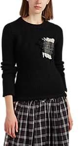 LE KILT Women's Cashmere Crewneck Sweater - Black