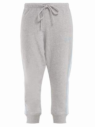 The Upside St Tropez Side Striped Cotton Track Pants - Womens - Grey
