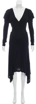 AllSaints V-Neck Evening Dress