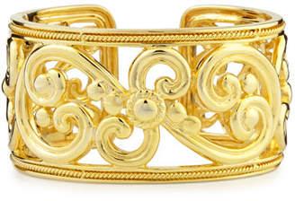 Eli Jewels Harmony 18k Gold Hinged Cuff Bracelet