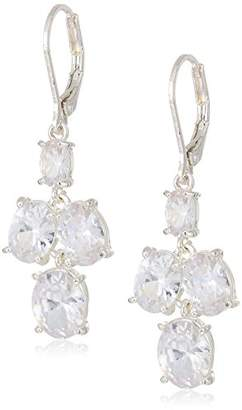 Anne Klein Women's Crystal Double Drop Earrings
