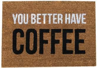 Lulu & Georgia You Better Have Coffee Doormat
